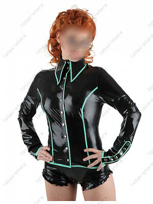 139 Latex Rubber Gummi Police Military Shirt Top Blouses suit customized 0.4mm