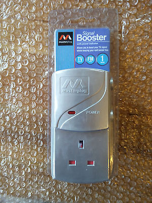 Masterplug TV Signal Booster with power indicator  - BRAND NEW/NEVER BEEN USED