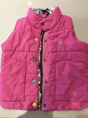 Joules Girls Gilet Age 5 Pink Gillet