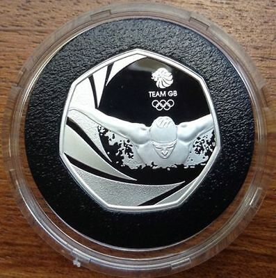 2016 UK TEAM GB 50p FIFTY PENCE SILVER PROOF COIN - LIMITED EDITION 4000 ONLY