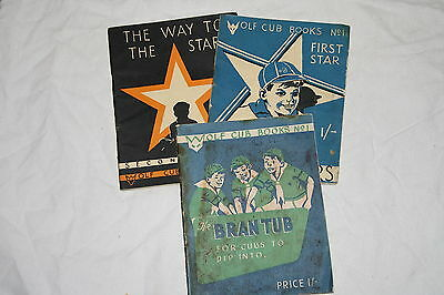 Wolf Cub Books, Bran Tub, The Way To The Stars, Cub Scouts, Very Rare 1952