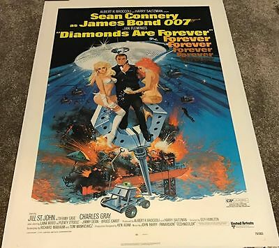 DIAMONDS ARE FOREVER US One Sheet (1971) Linen Backed, Sean Connery, James Bond