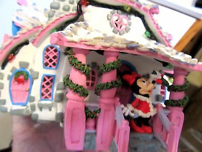 Disney Holiday Christmas Vintage Toontown Minnie Mouse House