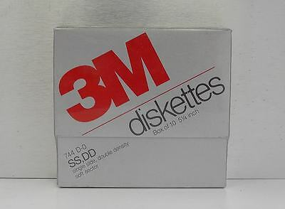"3M 10 Dischetti Diskettes 5 1/4"" SS DD Single Side Double Density  Made in Italy"
