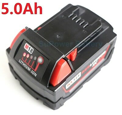 For Milwaukee M18  18V 5Ah 1850 1840 1828   LITHIUM battery