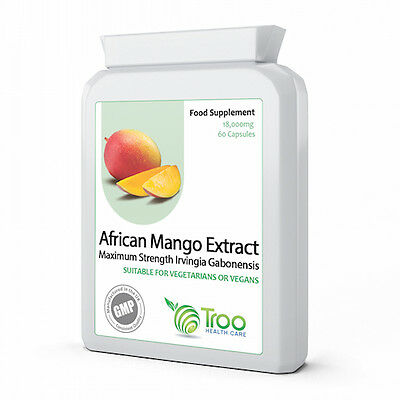 Pure African Mango 18000mg 60 Capsules - HIGHEST STRENGTH Irvingia Gabonensis