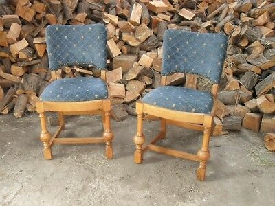 Stunning Pair of Golden Oak Old Church Seats / Chairs