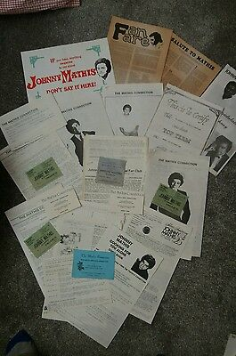 Various johnny mathis empherer including concert tickets