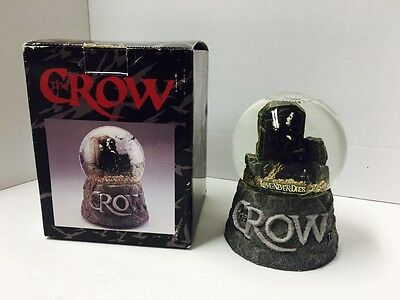 The Crow Love Never Dies Snow Globe ~Brandon Lee~ With Box Please Read