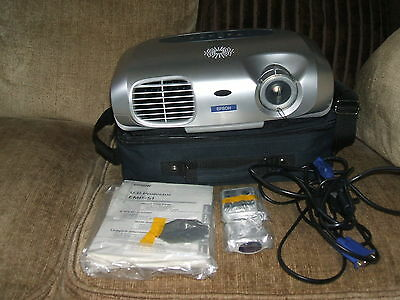 epson lcd projector model emp-s1 with carry-case. mint condition. untested