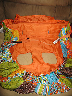 Infantino Shopping Grocery Cart and High Chair Cover -Orange Multi Print