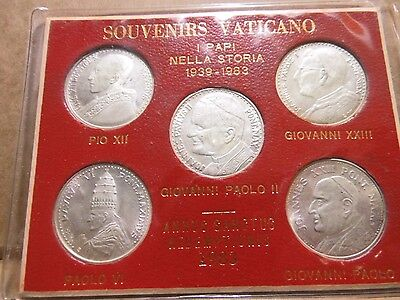 Vatican 5 Silver Coin Set FINAL SALE BEFORE BEING DIS-CONTINUED