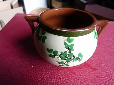 Two-Handled, Three-Legged Pot With A Brown Inside From Limerick -  Used