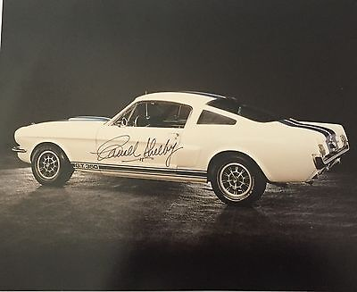 Carroll Shelby Signed 1965 Shelby GT350 Photo 8x10