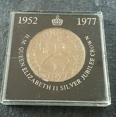 Boxed Silver Jubilee Crown Coin 1977 Queen Elizabeth 2 (Nat West)