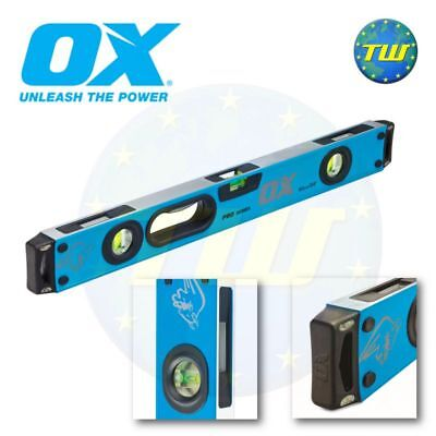 OX Tools Pro Spirit Level 600mm 2Ft 24in 60cm 3 Vial Shockproof Levels P024406