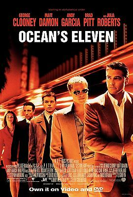 OCEANS ELEVAN 11x17 MOVIE POSTER COLLECTIBLE CLASSIC