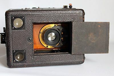 "Rare J T Chapman The British Detective Plate Box Camera C1900 Wray 5.5"" 1:8 Lens"
