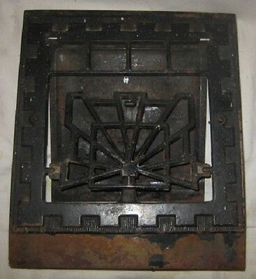 Vintage/Antique Cast Iron Heating Grate with Floor Mount Frame