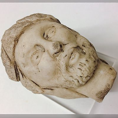VERY RARE ANCIENT ROMAN MARBLE HEAD 2/3rd  CENTURY A.D VERY LARGE AND HEAVY