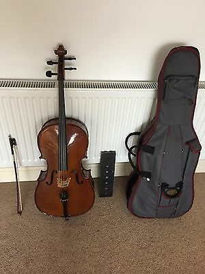 Stentor Student 2 Cello. 1/8. With Bow Soft Case And Spike Holder. Like New