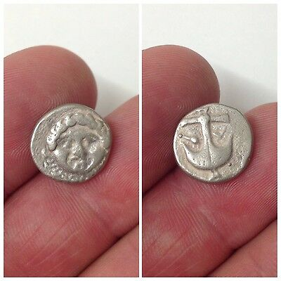 Rare Unresearched Ancient Hemidrachm Greek Silver Coin 300BC
