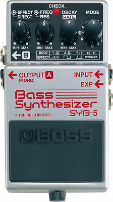 Boss Syb-5 Synthesizer Bass Guitar Effects Pedal & 2 Free Plectrums