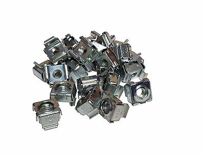 RackGold 12-24 Zinc Cage Nuts - 25 Pack RoHS Compliant & USA Made G1224-SNP-Z25