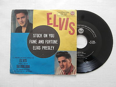 Elvis Presley Stuck On You / Fame And Fortune 45 Rca Italiana