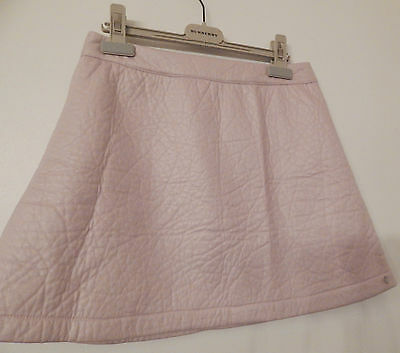 Bnwt Super Trash Pink Faux Leather Skirt Age 14 Lined
