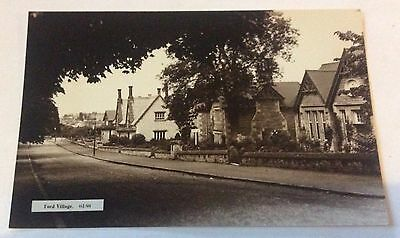 Early Real Photo Postcard Ford Village By R Johnston Newcastle