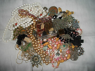 Junk Jewelry Lot  #1 For Crafts,Parts Or Repair