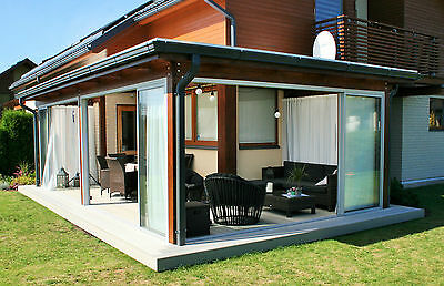 Lean to conservatory terrace veranda open space sliding door INDIVIDUAL STYLE