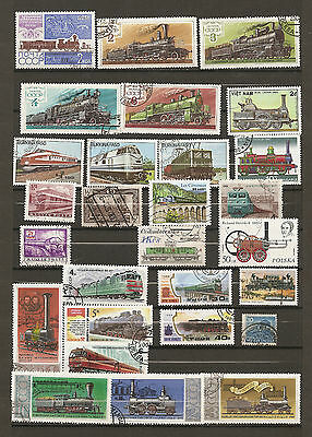 28 timbres trains lot 4