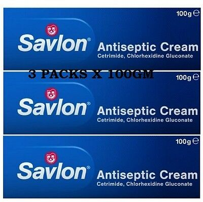 SAVLON ANTISEPTIC CREAM 100g x 3 New