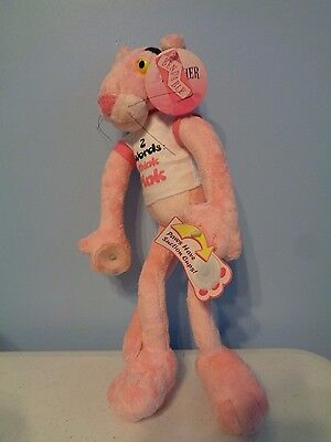AURORA Bendable Pink Panther Stuck on You Stuffed Toy with Suction Cups