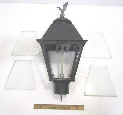Vintage Charmglow Natural Gas Exterior Post Porch Lamp Light Eagle Topper  (A)