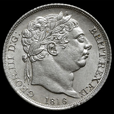 1816 George III Milled Silver Sixpence – A/UNC