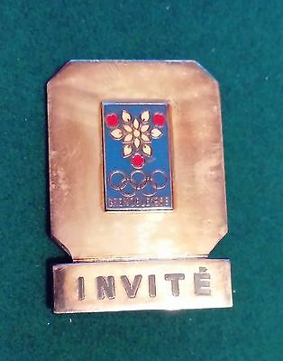 1968 Grenoble Winter Olympics official visitor participation badge