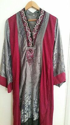 New/beautiful/Indian/pakistani/asian/suit/kameez/pink/fancy/shalwar/designer