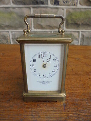 Antique Carriage Clock By Goldsmiths Company