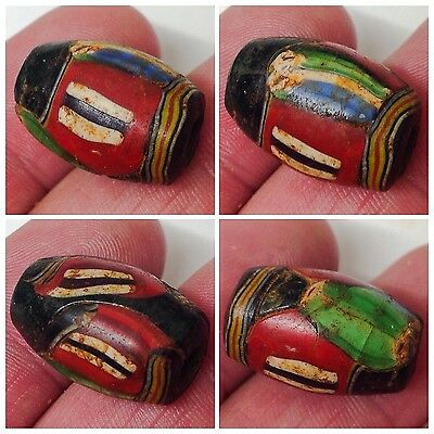 Very Rare Phoenician Glass Bead Seal 300Bc Super Quality