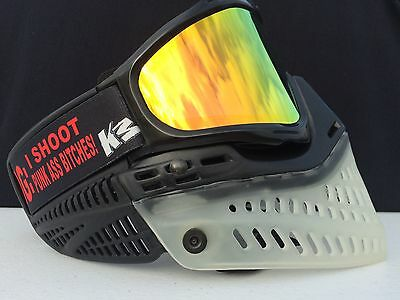 NEW JT Proflex Black & Clear Lava Thermal Lens Spectra Paintball Mask Goggles
