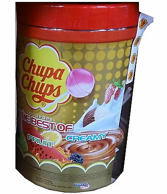100 x Best of CHUPA CHUPS Lollipops Assorted Flavour Bulk Lollies Pops Jar Can