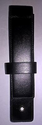 Mont Blanc Meisterstuck One Pen Pouch Black Leather/Calfskin
