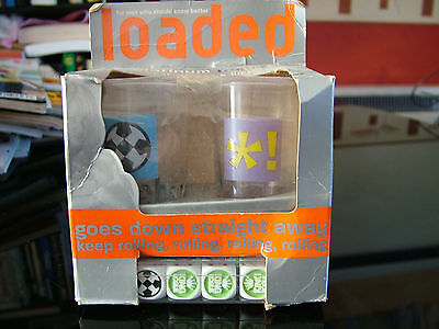 Mens Magazine Loaded Shot Glasses with Dice.
