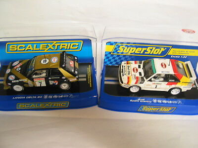 SCALEXTRIC  PAIRc3490 lancia delta #7  v h3500 audi sport #1 DPR  NEW BOXED (SS)