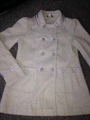 Girls Grey Winter Coat Age 12 - 13 Years