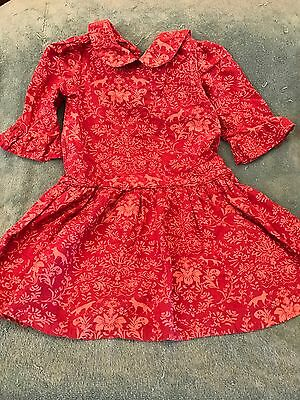 Baby Gap PINK FLOWER Dress 4T Girl Holiday CHRISTMAS