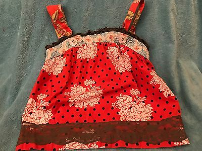 Matilda Jane Serendipity Old Fashion Ethel Red Tank Shirt Top 4T Girl Lace